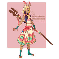 Bunny A Day - Staff Warrior by MeoMai