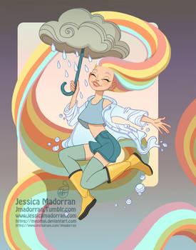 Character Design Redesign - Rainbow Cloud