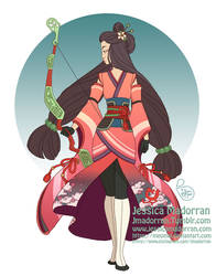 Character Design Redesign - Warrior Princess Mulan