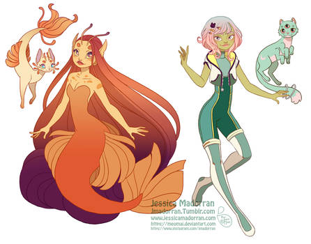 Character Design - Kai and Eva