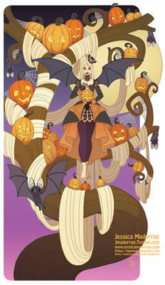 Patreon - Illustration - Halloween Tree Lady 2.0