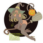 Patreon - Drawlloween 2020 - Cat Witch