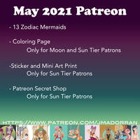 May 2021 Patreon Schedule
