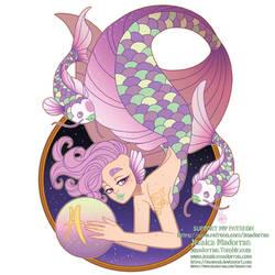 Patreon - May 2021 - Zodiac Mermaid - Pisces