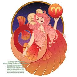 Patreon - May 2021  - Zodiac Mermaid- Aries