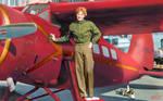 [COLORIZED] Amelia Earhart and her Lockheed Vega