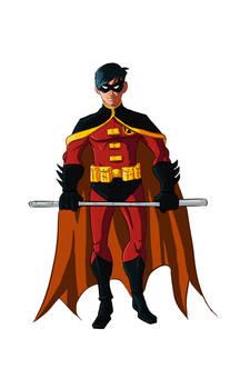 tim drake robin 2nd costume by Benjaminjuan