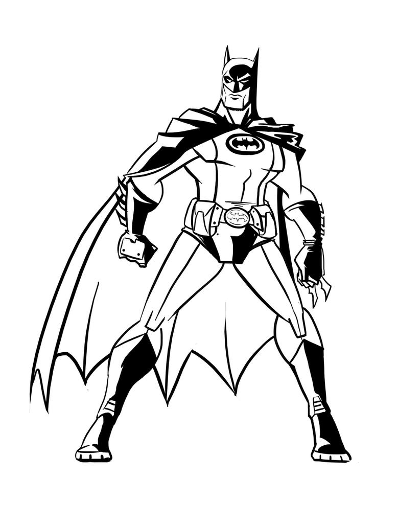 Ink Line Drawing Artists : Batman ink line art by benjaminjuan on deviantart