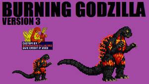 Burning Godzilla v3 Custom Sprite