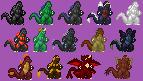 Godzilla Mini Sprites by Burninggodzillalord