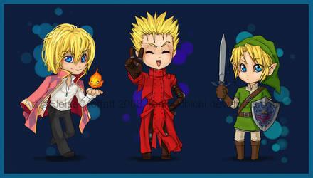 The Three Random Blonds. XD by Kinky-chichi