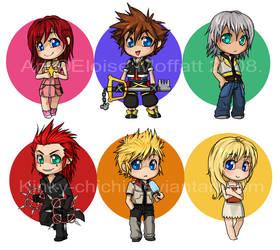 Kingdom Hearts Chibis by Kinky-chichi