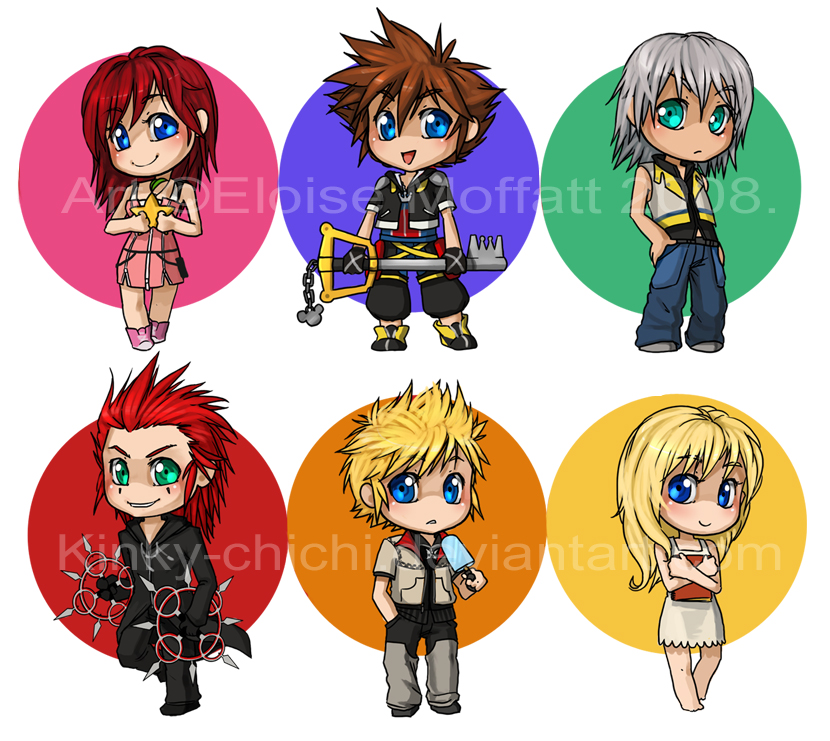 Kingdom Hearts Chibis by Kinky-chichi