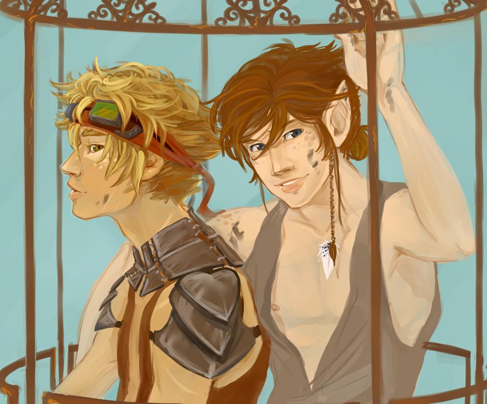 Rusty and Kosan by Kinky-chichi
