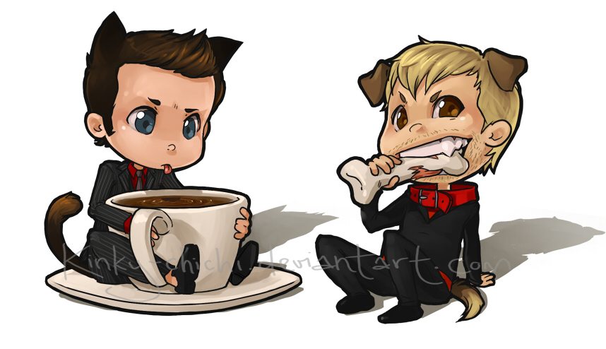 Mini Pets- Ianto and Master by Kinky-chichi