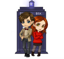Doctor Who:Eleven and Amy Pond by Kinky-chichi