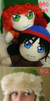 SP plushies and hat: FOR SALE