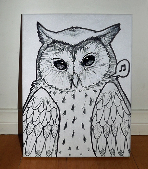 Owl - Canvas by Kinky-chichi