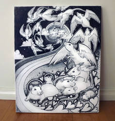 Little Angels - Canvas by Kinky-chichi
