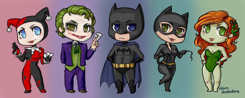 Batman Chibis by Kinky-chichi