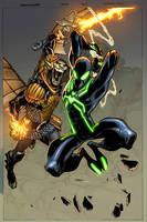 Spiderman vs New hobgoblin by elramos