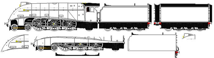LNER A4 sprite base by omega-steam