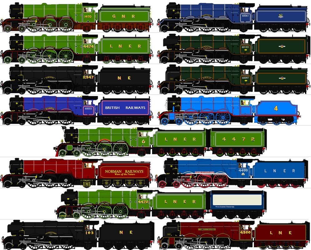 LNER A1 A3 Sprites By Omega steam On DeviantArt