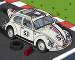 Herbie at the Starting Line
