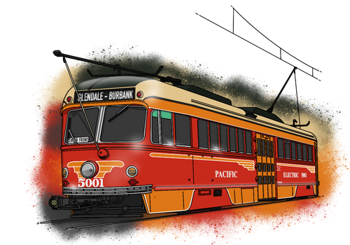 Pacific Electric 'Bullet' PCC - Now Colored