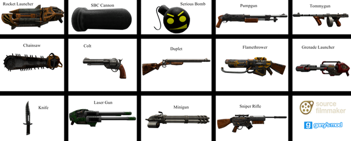 [DL] Serious Sam HD Weapons (Props) by Stefano96