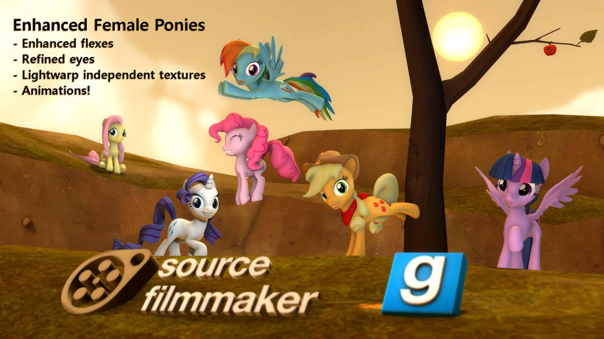 [DL] Enhanced female ponies
