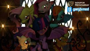 [DL] Enhanced Mane 6 (Bat Version) by Stefano96