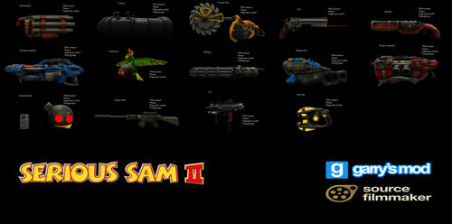 [DL] Serious Sam II Enhanced Weapons by Stefano96