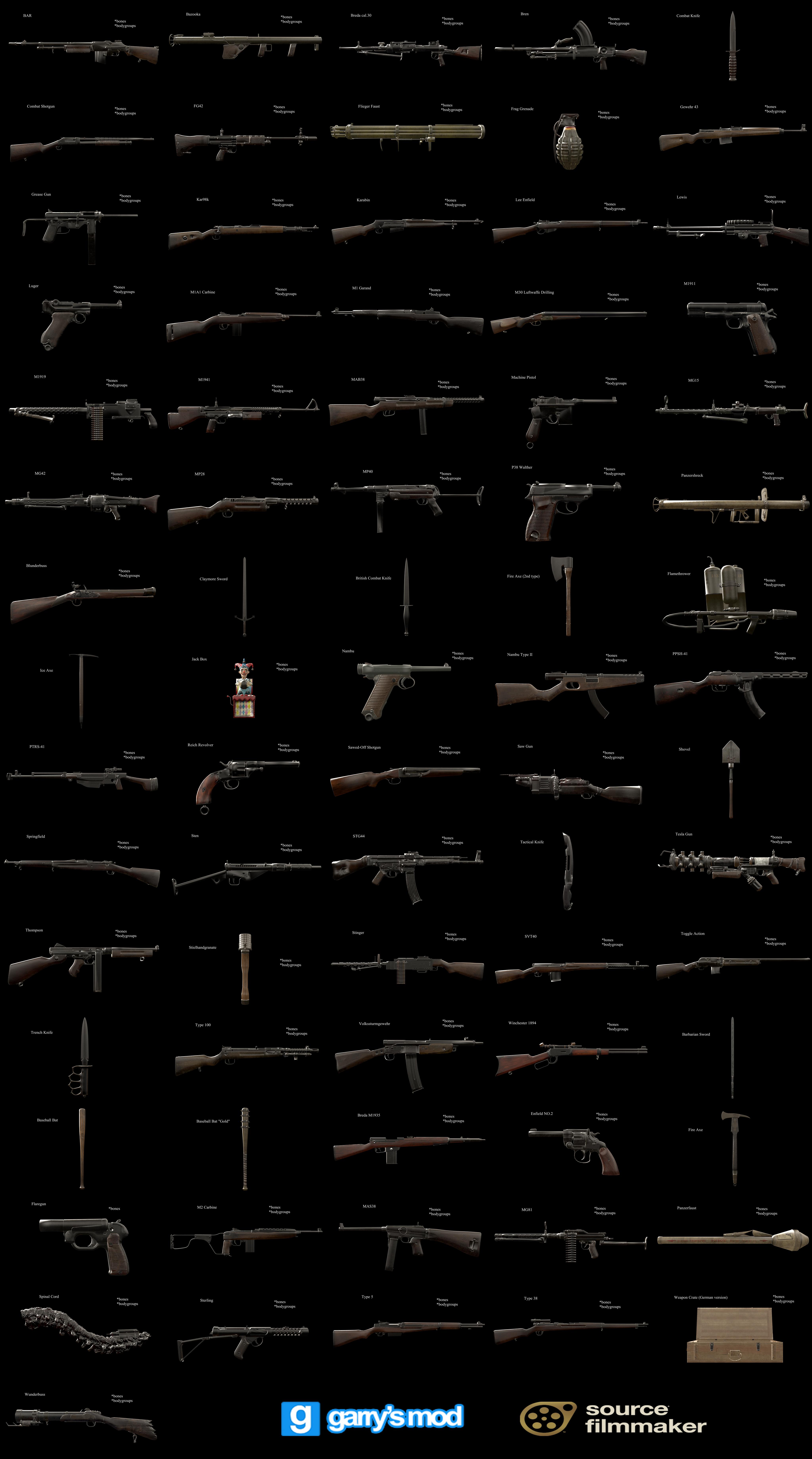 Dl Call Of Duty World War Ii Weapons Props By Stefano96 On Deviantart