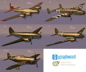 [DL] Call of Duty WW2 Allied Planes (Props)
