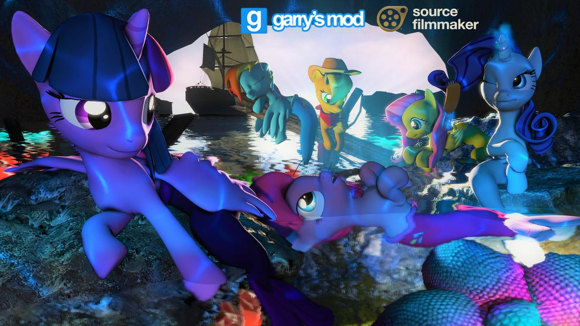 [DL] Enhanced Mane 6 (Mermaid version) by Stefano96