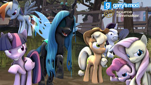 [DL] Enhanced Mane 6 (Mean version)