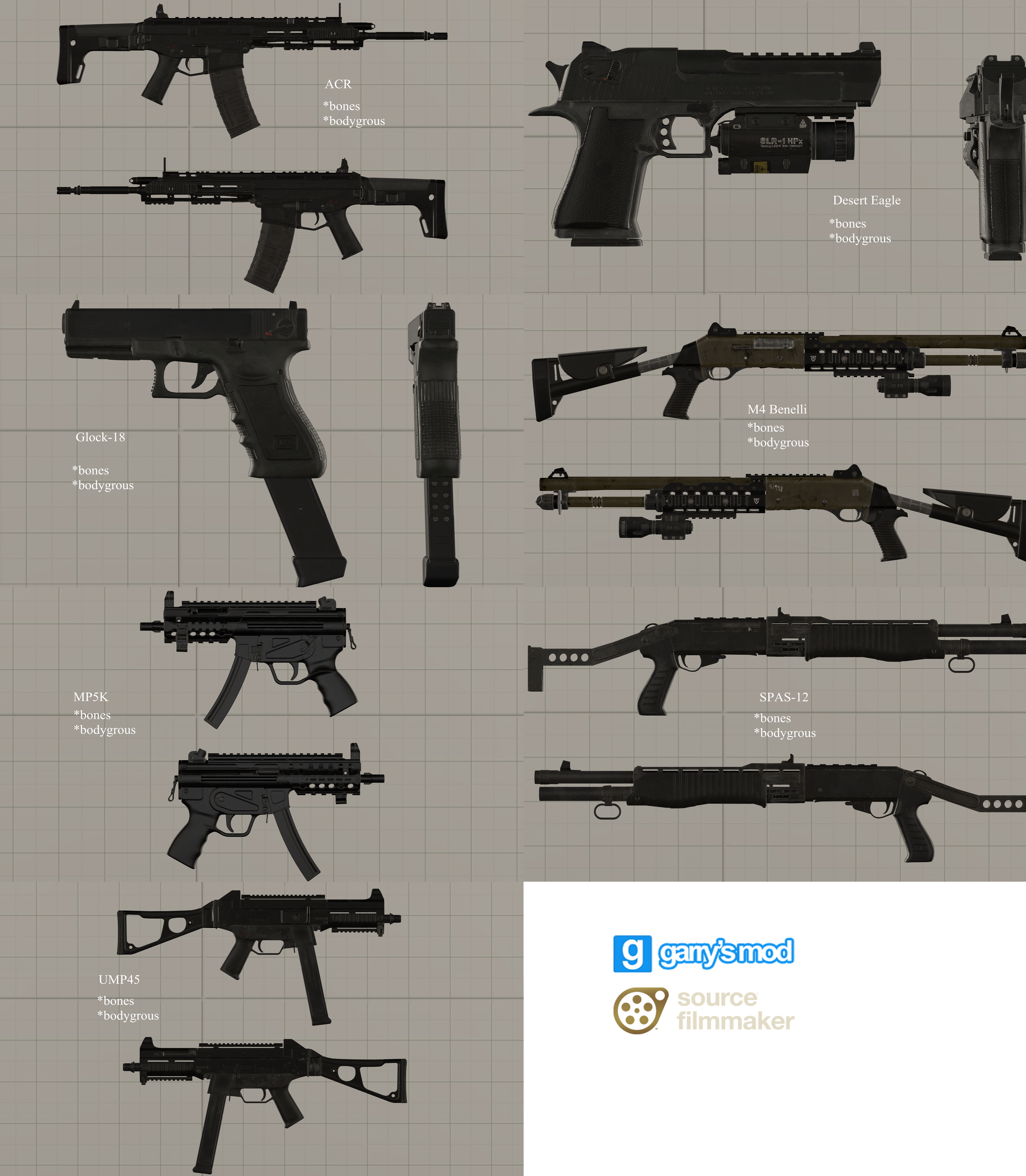 Dl Cod Mw2 Rm Small Weapons Pack 2 Props By Stefano96 On Deviantart