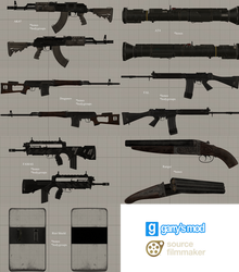 [DL] CoD MW2 RM Small Weapons Pack #5 (Props)