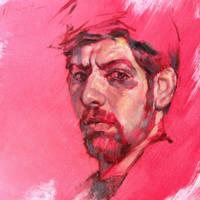 Self-portrait in red by ivosirakov