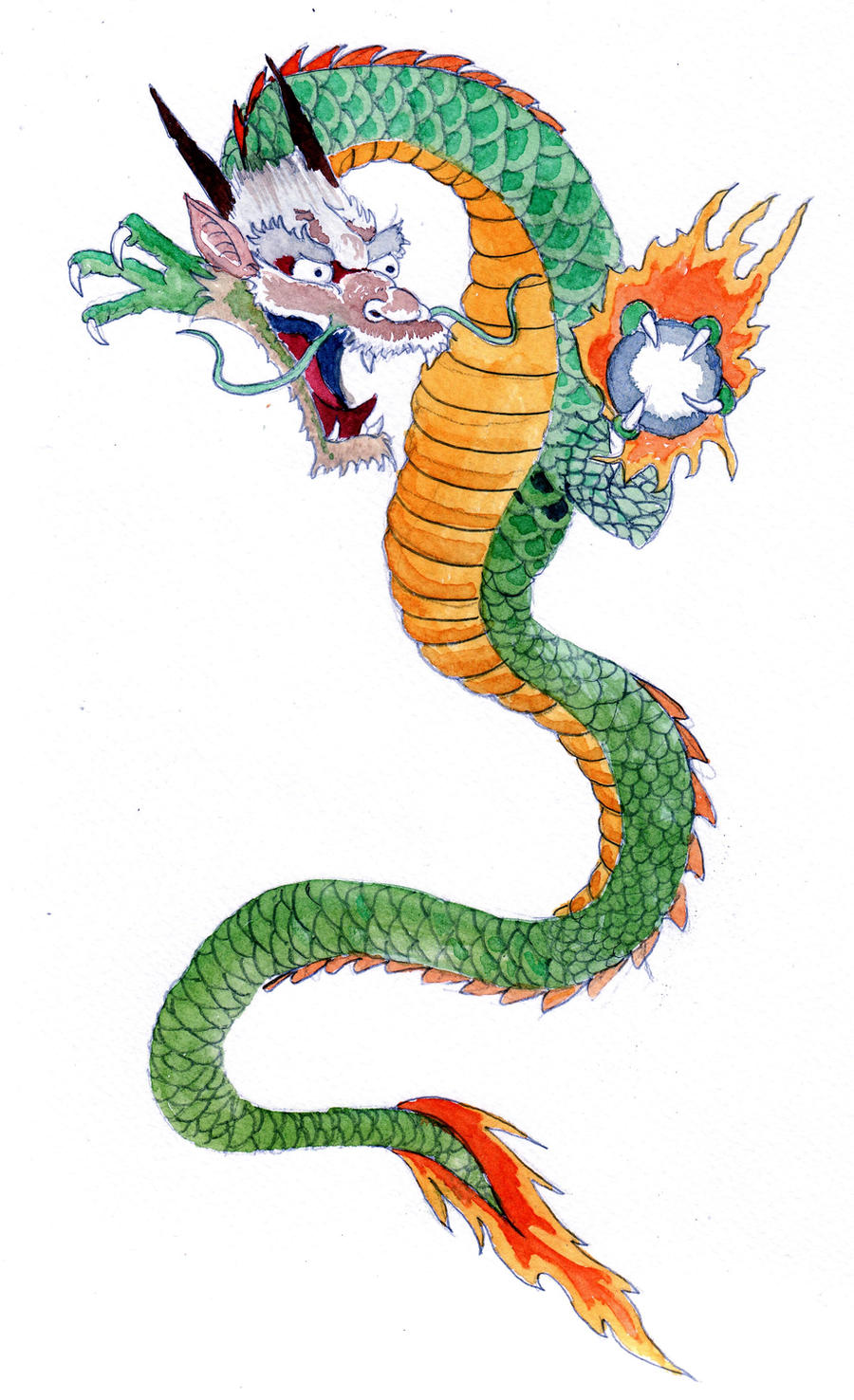 Japanese dragon by dabull04 on deviantart for Japanese dragon painting