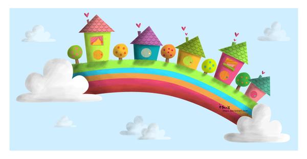 Rainbow town by iMais