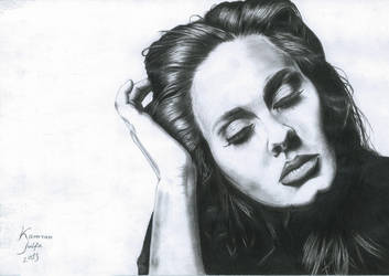 Adele Drawing by kamran-julfa