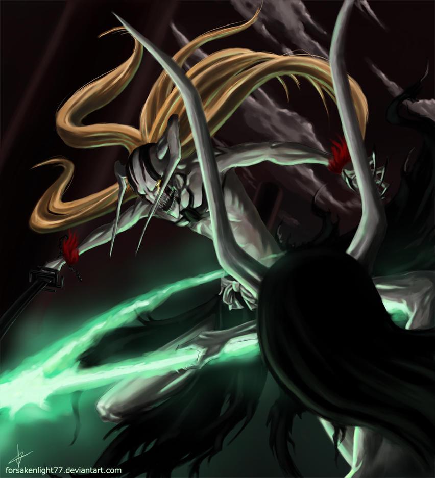 ichigo vs ulquiorra by forsakenlight77 on deviantart
