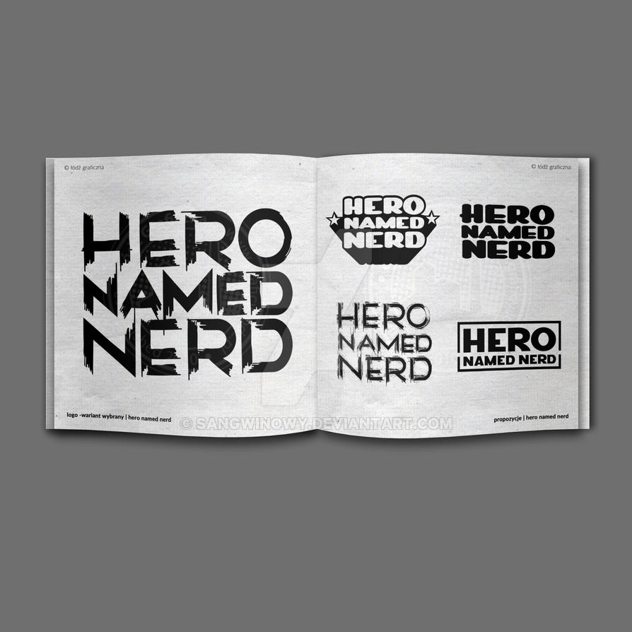 Hero Named Nerd - logo by sangwinowy
