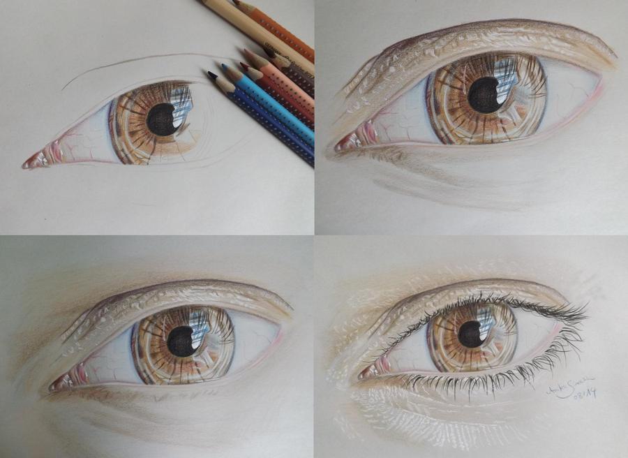 Drawing Steps The Boyfriends Eye by neonschwarz