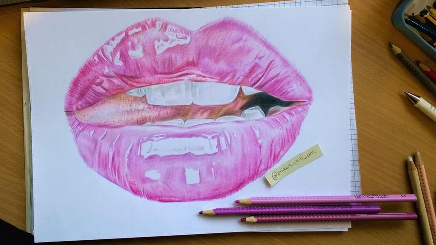 Pink Lip WIP by neonschwarz