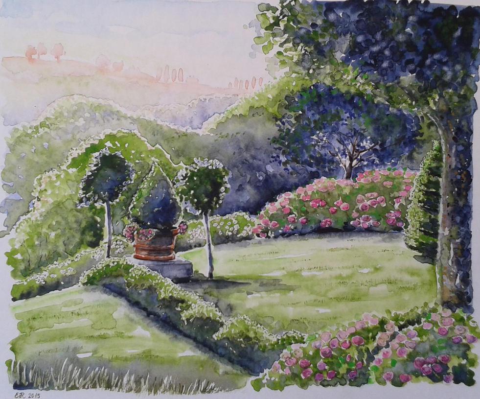 Giardino con ortensie by daroitelisabetta on DeviantArt