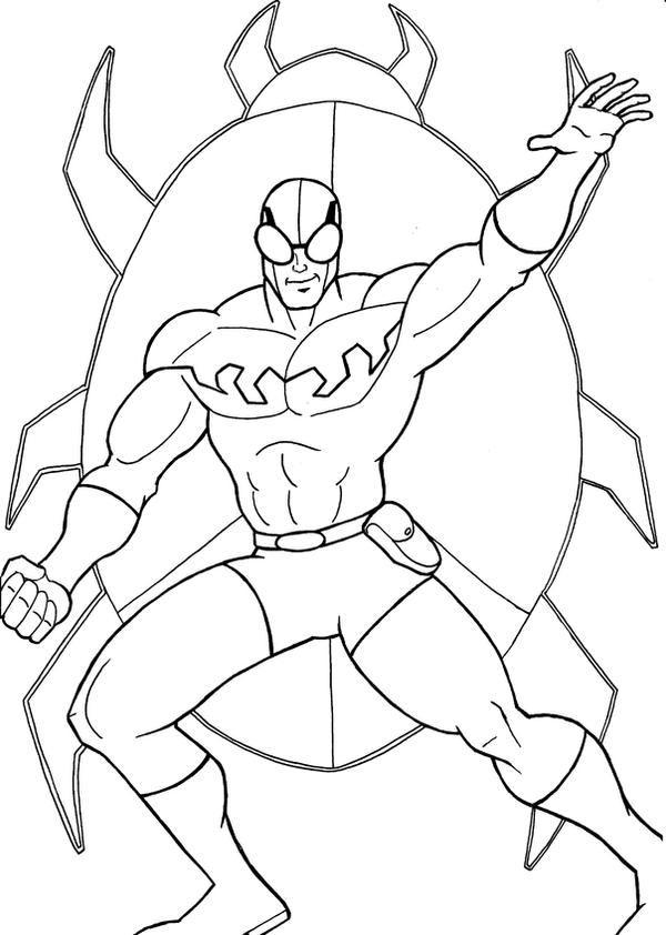 blue beetle coloring pages blue beetle black and white by batmaxx on deviantart
