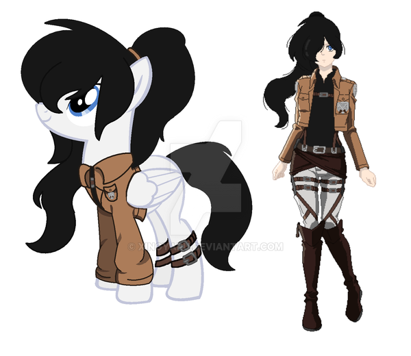 Attack On Titan OC + Ponyfication By Xingyaru On